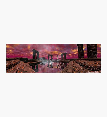 TEMPLE OF WATER /HYPERION WORLD ,Sci-Fi Movie Photographic Print