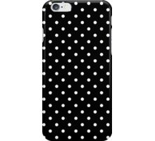Small Polka Dots Pattern - Black and White iPhone Case/Skin