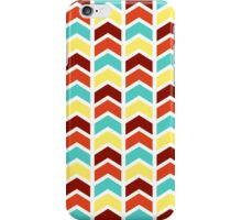 Playful Geometric Chevron Pattern - Retro Color iPhone Case/Skin