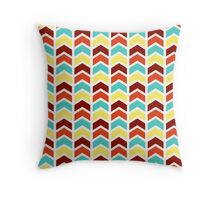 Playful Geometric Chevron Pattern - Retro Color Throw Pillow