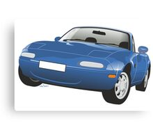 Mazda MX-5 Miata blue Canvas Print