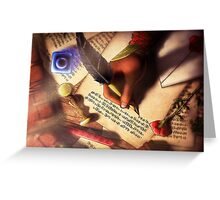 The Writer (Digital Illustration) - Rotated Greeting Card