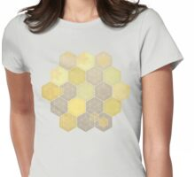 Lemon & Grey Honeycomb Womens Fitted T-Shirt