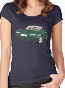 Mazda MX-5 Miata green Women's Fitted Scoop T-Shirt