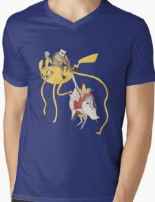 Pokebattle! Come on, grab your friends... Mens V-Neck T-Shirt