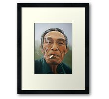Male smoking Framed Print