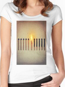 burning alone 2 Women's Fitted Scoop T-Shirt