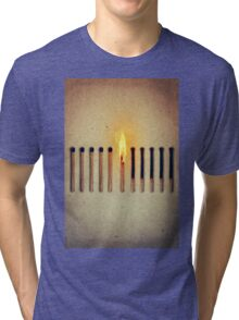 burning alone 2 Tri-blend T-Shirt
