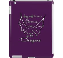 Rescue you from dragons iPad Case/Skin