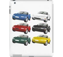 Mazda MX-5 Miata black iPad Case/Skin