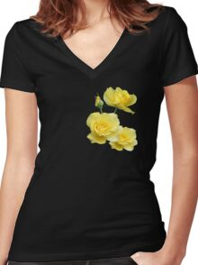 Yellow Rose Group Women's Fitted V-Neck T-Shirt