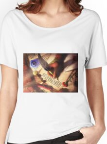 The Writer (Digital Illustration) - Rotated Women's Relaxed Fit T-Shirt