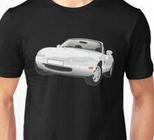 Mazda MX-5 Miata white Unisex T-Shirt
