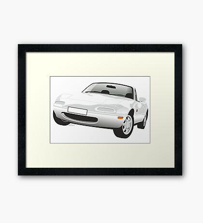 Mazda MX-5 Miata white Framed Print