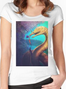My Old Friend (Digital Illustration) Women's Fitted Scoop T-Shirt