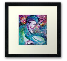 MASK IN BLUE / Venetian Masquerade Framed Print