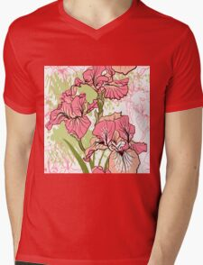 iris flower  Mens V-Neck T-Shirt