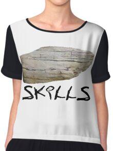 Hard - Stone - Skills Chiffon Top