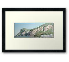 Cliffs of Marina Grande Framed Print