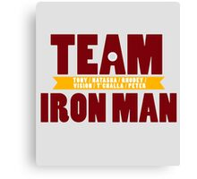 TEAM IRON MAN Canvas Print