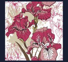 iris flower  One Piece - Long Sleeve
