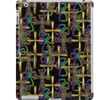 Cross Pattern (on black)  (other colours available) iPad Case/Skin