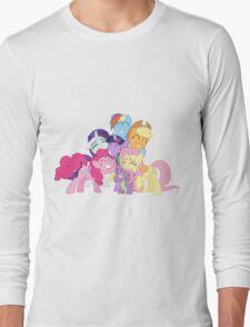 Mane Six and Spike group hug Long Sleeve T-Shirt