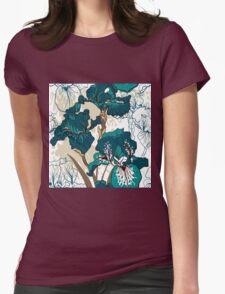 iris flower Womens Fitted T-Shirt