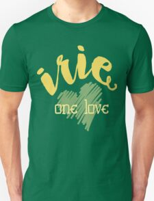 Jamaica Irie  One Love  Unisex T-Shirt