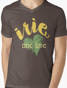 Jamaica Irie  One Love  Mens V-Neck T-Shirt
