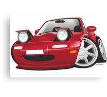 Mazda MX-5 Miata caricature red Canvas Print