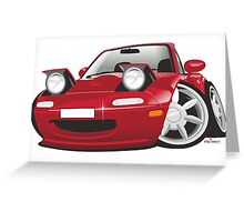 Mazda MX-5 Miata caricature red Greeting Card