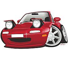 Mazda MX-5 Miata caricature red Photographic Print