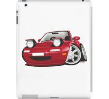 Mazda MX-5 Miata caricature red iPad Case/Skin