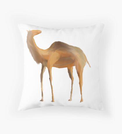 Desert Camel Throw Pillow