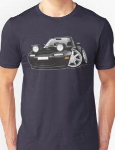 Mazda MX-5 Miata caricature black Unisex T-Shirt