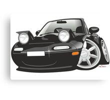 Mazda MX-5 Miata caricature black Canvas Print