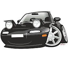 Mazda MX-5 Miata caricature black Photographic Print