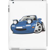 Mazda MX-5 Miata caricature blue iPad Case/Skin