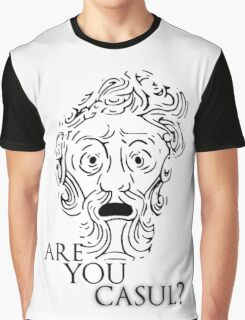Big Daddy says: Are you casul? - Black Graphic T-Shirt