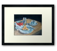 Red bowl Framed Print