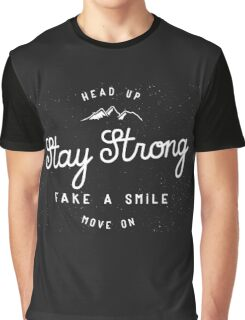 Stay Strong Retro Badge Graphic T-Shirt