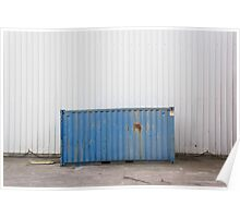 Blue old container Poster