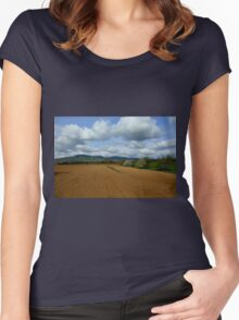 Rural scenery Women's Fitted Scoop T-Shirt