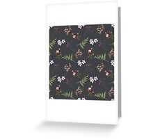 Vintage Flowers Greeting Card