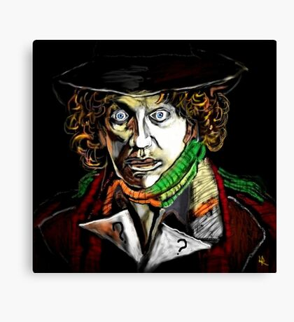 Dr. Who Tom Baker Canvas Print