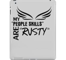 Angel problems. (Black) iPad Case/Skin