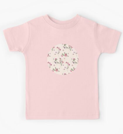 Scattered Floral on Cream Kids Tee