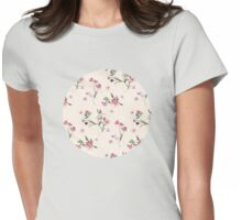 Scattered Floral on Cream Womens Fitted T-Shirt