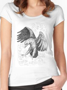 Flying, attacking eagle Women's Fitted Scoop T-Shirt